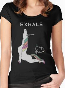 Unicorn - Exhale T-Shirt Women's Fitted Scoop T-Shirt