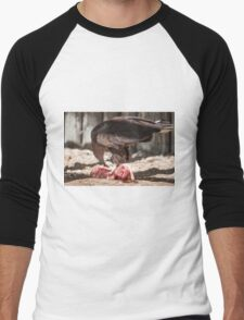 bird of prey that eat meat Men's Baseball ¾ T-Shirt