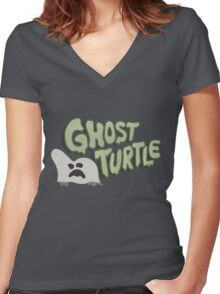 Ghost Turtle | Gravity Falls Women's Fitted V-Neck T-Shirt