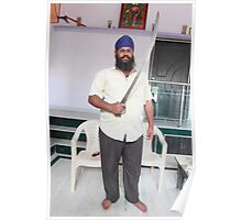 Sikh Posing with Sword Poster