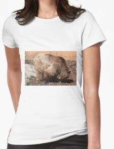 bear in the zoo Womens Fitted T-Shirt