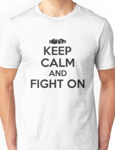 Boxing: keep calm and fight on Unisex T-Shirt