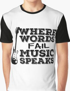 Music Quotes Guitar Music Lover Inspirational  Graphic T-Shirt