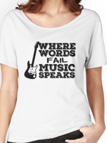 Music Quotes Guitar Music Lover Inspirational  Women's Relaxed Fit T-Shirt