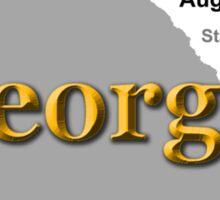 Georgia State Pride Map Silhouette  Sticker
