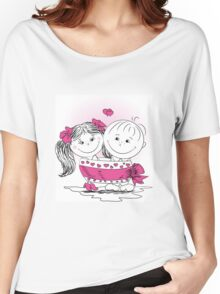 love man and woman bound bow Women's Relaxed Fit T-Shirt
