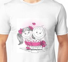 love man and woman bound bow Unisex T-Shirt