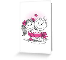 love man and woman bound bow Greeting Card