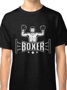 Boxer in boxing ring Classic T-Shirt