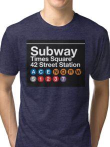 NYC Subway Tri-blend T-Shirt