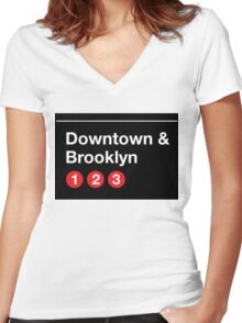 Downtown & Brooklyn Women's Fitted V-Neck T-Shirt