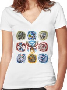 Autobots Prime- Collection Women's Fitted V-Neck T-Shirt
