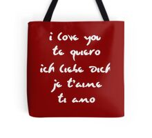 I love you different languages Tote Bag