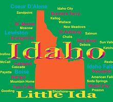 Colorful Idaho State Pride Map  by KWJphotoart