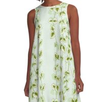 Chain of Hearts in Apple Green A-Line Dress