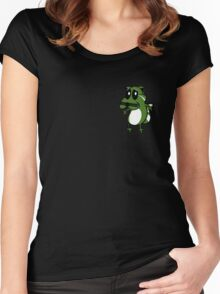 Oxcy The Cowardly Panda Women's Fitted Scoop T-Shirt