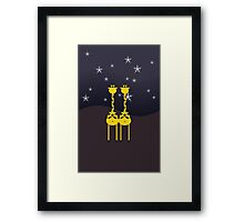 Giraffes in the Night Framed Print