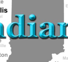 Indiana State Pride Map Silhouette  Sticker