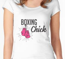 Boxing Chick Women's Fitted Scoop T-Shirt