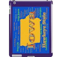Colorful Iowa State Pride Map  iPad Case/Skin