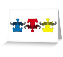 MUSTACHE PUZZLE Greeting Card