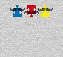 MUSTACHE PUZZLE Mens V-Neck T-Shirt