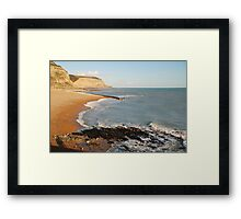 Rock a Nore beach, Hastings Framed Print
