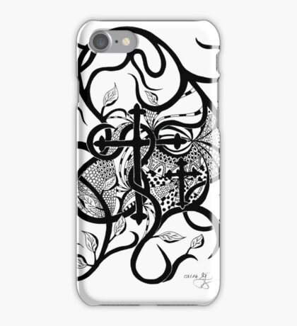 Kreuz, schwarz, weiß, Tatoo, Biker iPhone Case/Skin