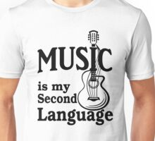 music is my second language with guitar Unisex T-Shirt