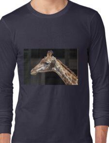 giraffe at the zoo Long Sleeve T-Shirt