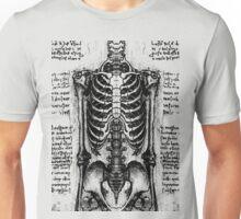 Leonardo's Skeleton Unisex T-Shirt