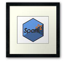 apache spark hadoop engine hexagonal hexagon sticker Framed Print