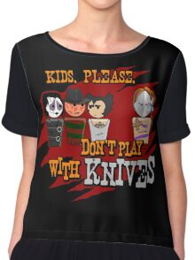 Don't Play With Knives Chiffon Top