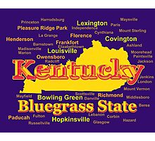 Colorful Kentucky State Pride Map Silhouette  Photographic Print