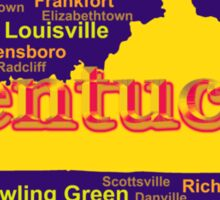 Colorful Kentucky State Pride Map Silhouette  Sticker