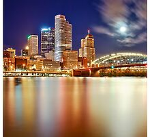 Pittsburgh Night Reflection by Dan Dexter