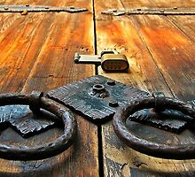 Old Door in Kona by Randy Richards