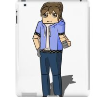 Minecraft boy with his hand up iPad Case/Skin