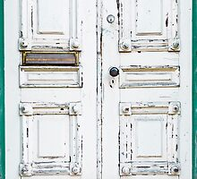 Green White Door Rustic Door by Dan Dexter