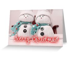 Merry Xmas 015 - RED Greeting Card