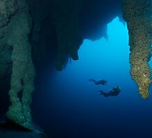 Blue Hole Belize by Norbert Probst