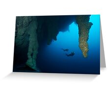 Blue Hole Belize Greeting Card