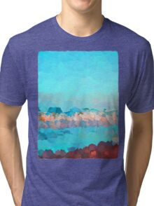 Turquoise Waves Rolling In Tri-blend T-Shirt