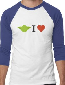 Yoda I Love Men's Baseball ¾ T-Shirt