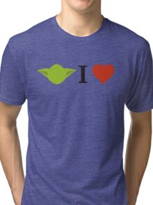 Yoda I Love Tri-blend T-Shirt
