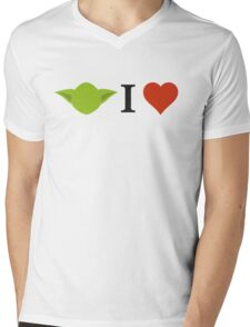 Yoda I Love Mens V-Neck T-Shirt