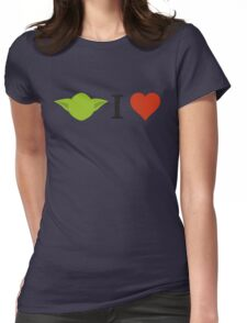 Yoda I Love Womens Fitted T-Shirt