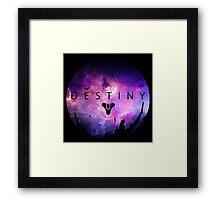 Destiny - Galaxy Logo by AronGilli Framed Print