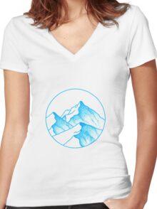Alps Asunder Women's Fitted V-Neck T-Shirt