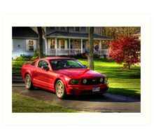 The Stang in HDR Art Print